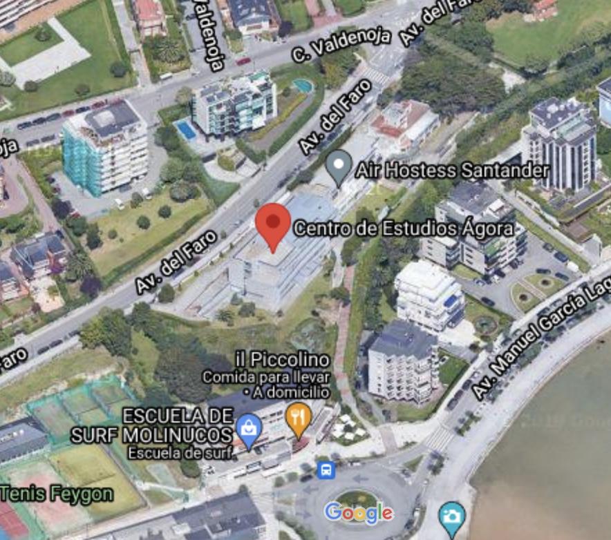 Localización Centros de estudios Ágora